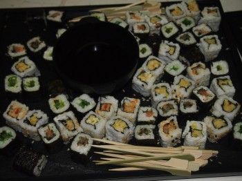 Mini makis de saumon